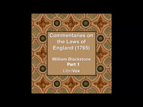 Blackstones Commentaries on the Laws of England 1764 Part 1