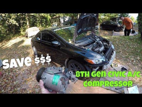 Honda Civic Si Remove & Replace A/C Compressor DIY (2006-2011 Civic Si)