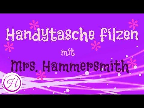 DIY Handytasche filzen Mrs. Hammersmith