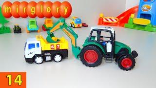 Машинки мультфильм - Город машинок - 14 серия: Экскаватор, грузовик. Развивающие мультики