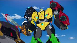 Transformers: Robots in Disguise - Menasor vs Ultra Bee [HD]