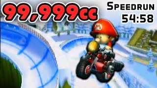 99,999cc Mario Kart Wii Speedrun All 32 Tracks SUB 55!