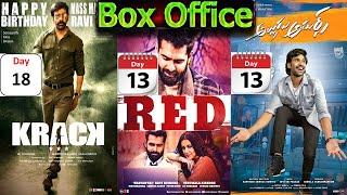 Krack Movie 18 Days & Red VS Alludu Adhursh 13 Days Total Worldwide Gross Collection