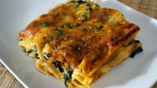 Vegetable Lasagne (lasagna) !!creamy Cheesy Saucy!! Spinach And Mushrooms!