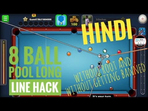8 Ball Pool Long Line Hack Android No Root 2018 Update ...