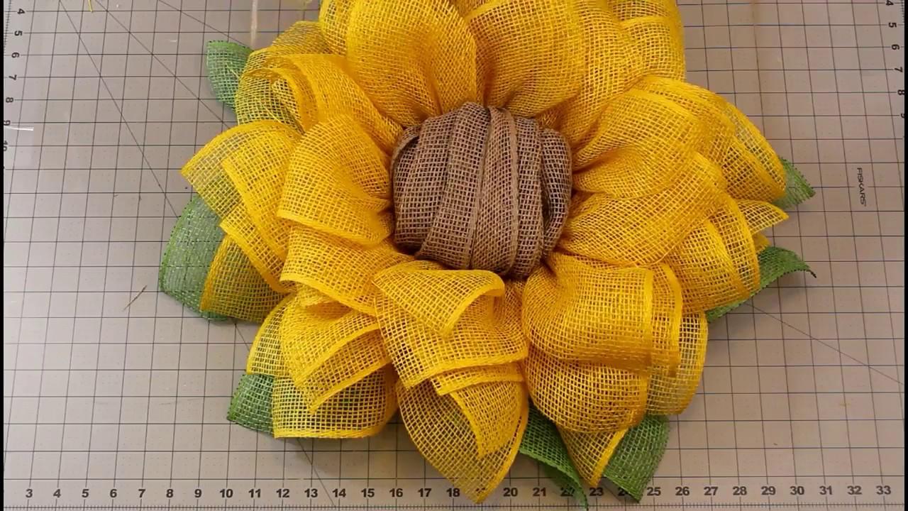 Superbe Sunflower Wreath Tutorial | Julieu0027s Wreath Boutique