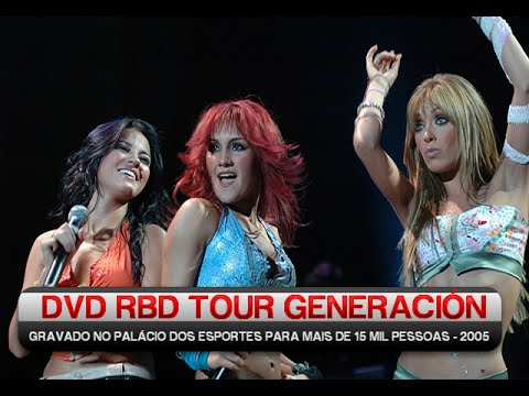dvd rbd tour generacion completo