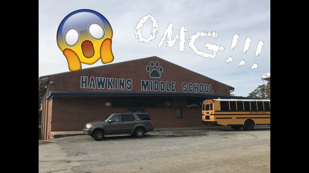 Breaking Into Hawkins Middle School From Stranger Things Youtube