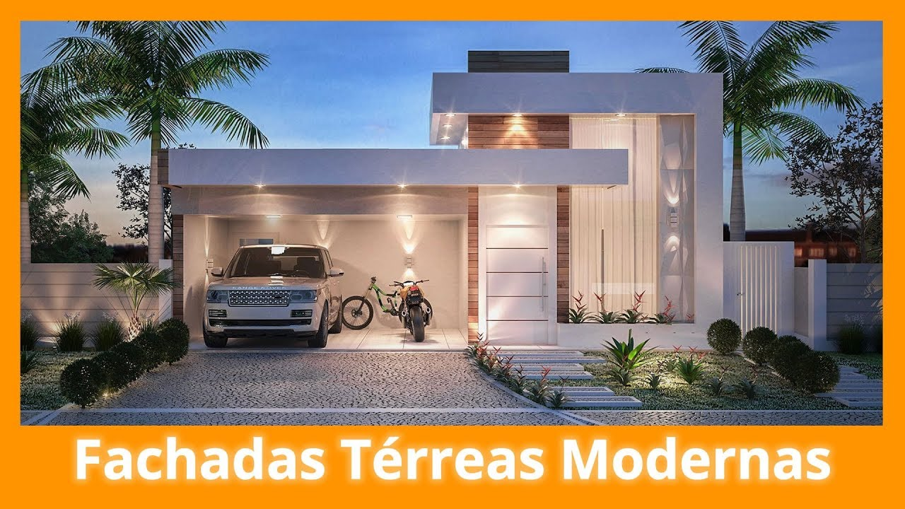 Fachadas de casas t rreas modernas youtube for Casa moderna 2019