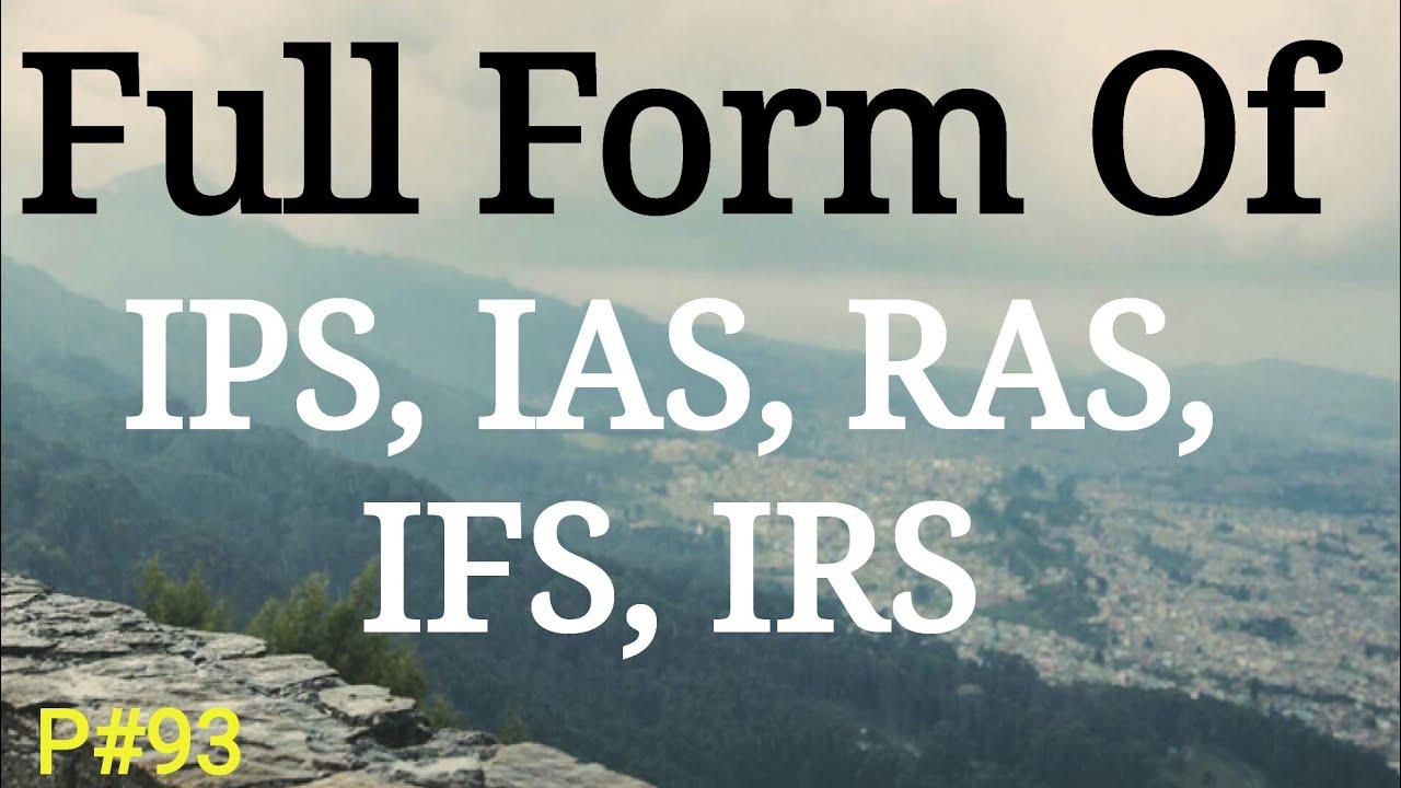 Full form of IPS, IAS, RAS, IFS, IRS   Full Name Meaning   General  Knowledge Hindi   Mahipal Rajput