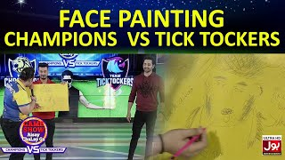 Face Painting | Game Show Aisay Chalay Ga League | TickTockers Vs Champions