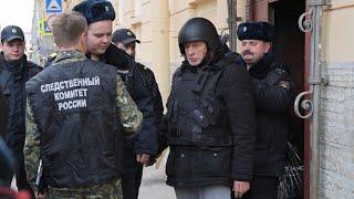 В каске и бронежилете: в Петербурге прошёл следственный эксперимент с участием историка Соколова