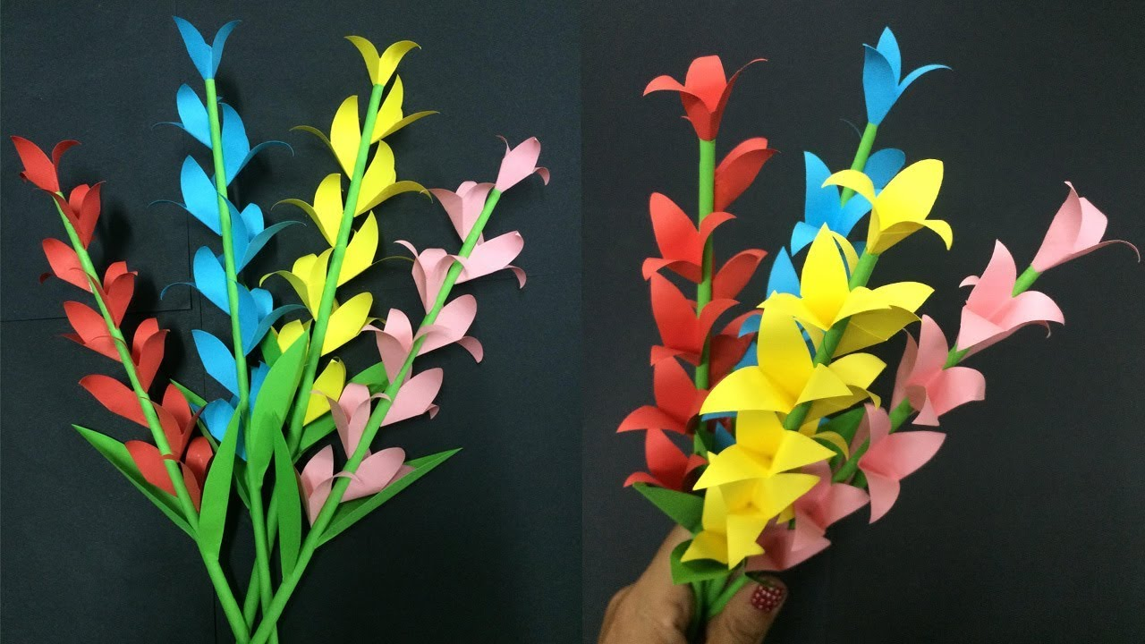 How to make paper flower stick making paper flowers step by step how to make paper flower stick making paper flowers step by step diy paper crafts mightylinksfo