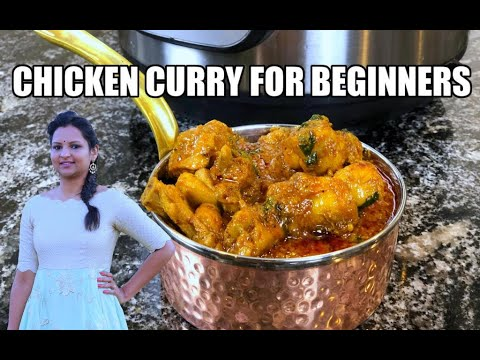 Instant Pot Chicken Masala Curry for Beginners   Quick & Easy   Written Recipe in Description