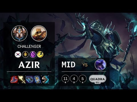 Azir Mid vs Ryze - KR Challenger Patch 10.11