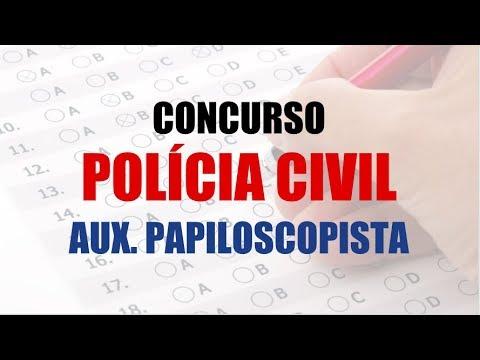 Concurso Policia Civil Sp 2018 Auxiliar De Papiloscopista