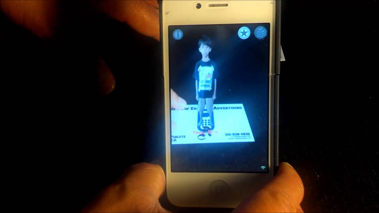 new era ads app augmented reality 3d business card demo youtube