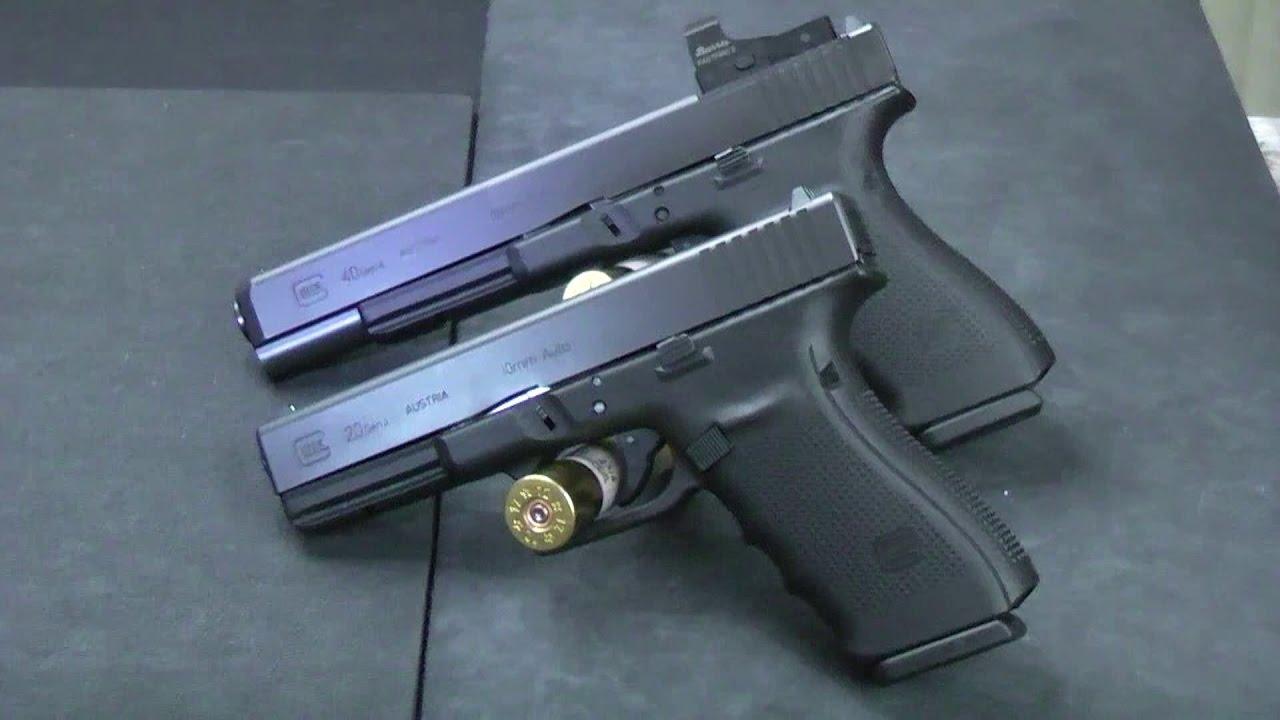 Glock 10mm Pistols Compared G20 V G40 Youtube