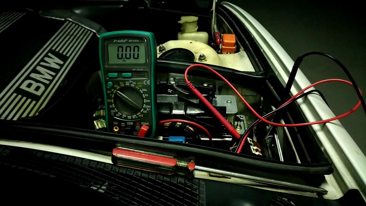 I Fuse Diagram Bmw E34 Oxygen Sensor Relay Start Dme Delay Youtube