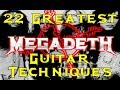 Download MEGADETH's 22 Greatest Guitar Techniques! MP3 song and Music Video