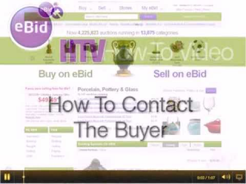 How To Contact The Buyer - eBid How To Video