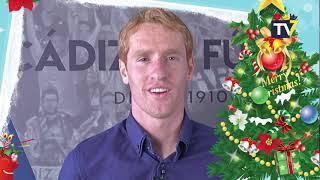 Felicitación navideña del entrenador y capitanes del Cádiz CF (24-12-18)
