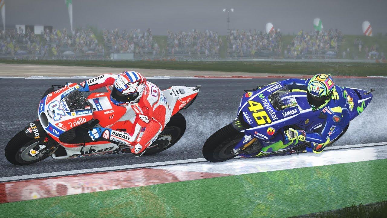 Motogp 17 Race Gp Assen 2017 Wet Valentino Rossi Gameplay