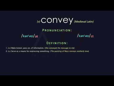Convey Meaning And Pronunciation | Audio Dictionary
