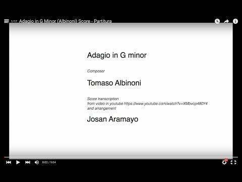 Albinoni - Adagio in G Minor - music score / music sheet / partitura