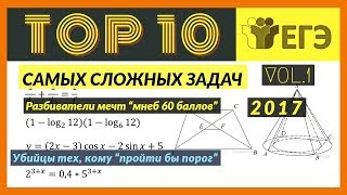 Топ 10 Самых сложных заданий части 1 ЕГЭ (Математика Профиль)