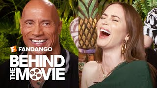 """Dwayne Johnson & Emily Blunt Talk About Their """"White Hot Kiss"""" in Disney's 'Jungle Cruise'"""