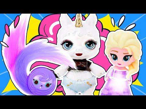 АМЕЛЬКИНЫ ИГРУШКИ! Самые крутые серии про Пупси Слайм, Куклы Frozen и расчески POP Hair Surprise