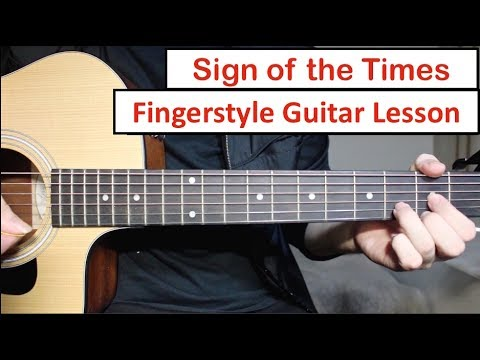 Sign Of The Times (Harry Styles) | Fingerstyle Guitar Lesson (Tutorial) How to play Fingerstyle
