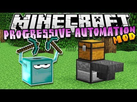 Minecraft: PROGRESSIVE AUTOMATION! (Automated Mining) - Mod Showcase