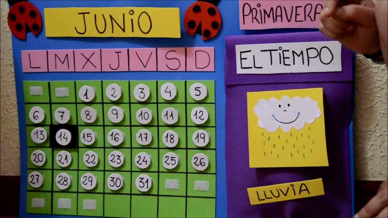 Calendario Infantil de goma eva. - YouTube