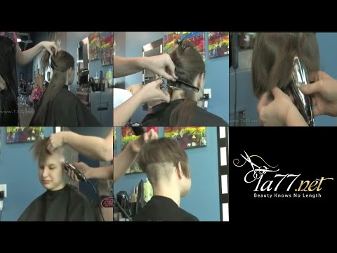 Free TA77.net video - Wendy (2010) Part 2 She gets an undercut bob