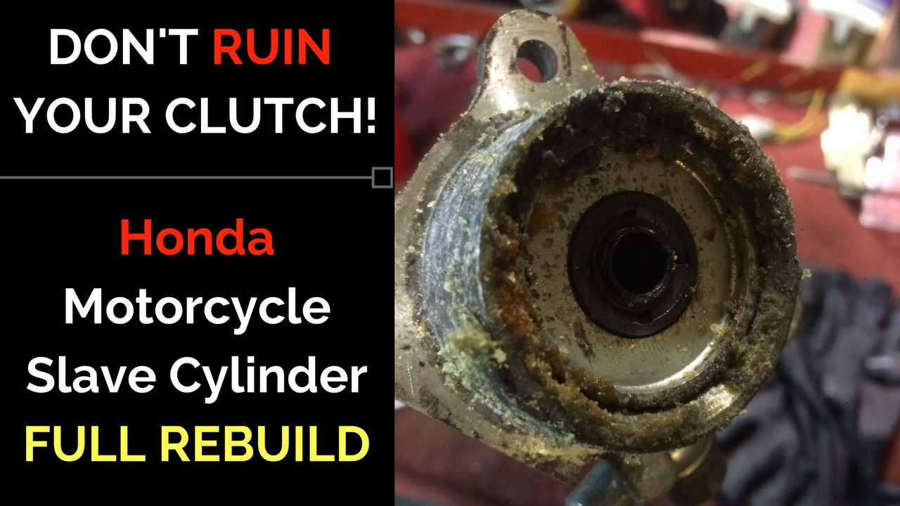 motorcycle cluch slave cylinder full repair [ 1280 x 720 Pixel ]