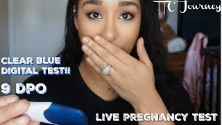 SURPRISING Live Pregnancy Test | 8-9 DPO | Telling my Husband💕