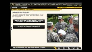 Leadership Training for the Center of Army's Leadership