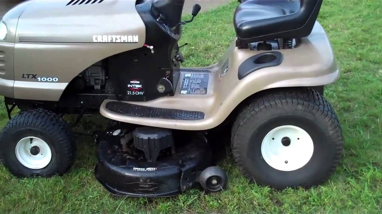 Craftsman Ltx 1000 Youtube Riding Lawn Mower Wiring Schematic