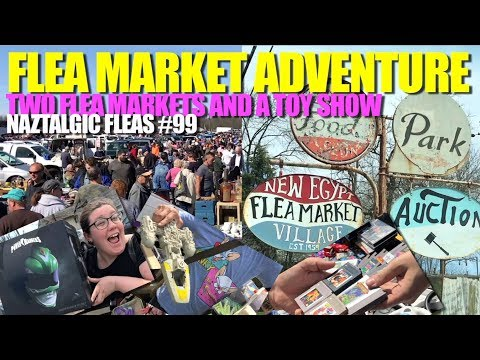 DOUBLE FLEA MARKET ADVENTURE Columbus and New Egypt (Retro Video Games, Vintage Toys)