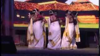 Angane Njan - Thiruvathira (Indian Social Club Salalah - Onam Eid 2013)