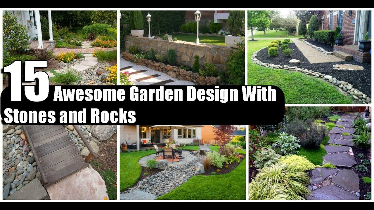 15 Awesome Garden Design With Stones And Rocks