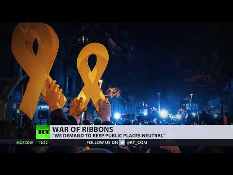 No more yellow ribbons: Activists get rid of Catalan independence symbols
