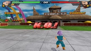 Kid Trunks KO Mister Satan in one hit (Dragonball Z Budokai Tenkaichi 3 One Hit KO Mod)