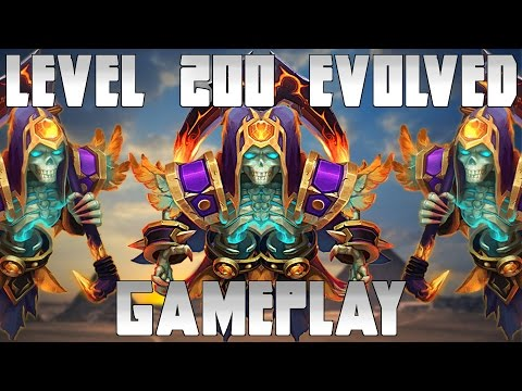 Castle Clash Grizzly Reaper Level 200 Single Evolved Gameplay