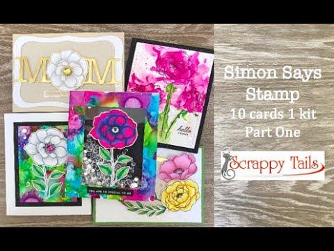 10 Cards 1 Kit- Part 1- Simon Says Stamp May 2019 Card Kit