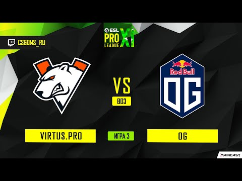 Virtus.pro Vs OG [Map 3, Inferno2] (Best Of 3) ESL Pro League | Groups
