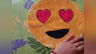 Lovely emoji cushion making #handcraft# in Telugu...