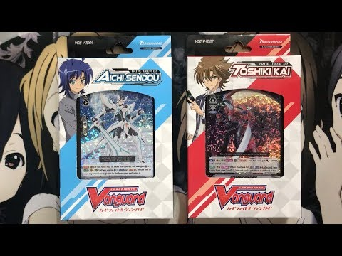 Opening My Cardfight Vanguard Trial Decks Aichi Sendou & Toshiki Kai